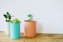 colored-tin-can-planters